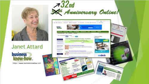32 years online Janet Attard Business Know-How