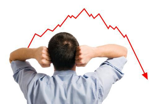 man in front of chart