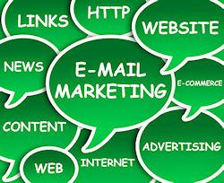 email marketing in speech bubble