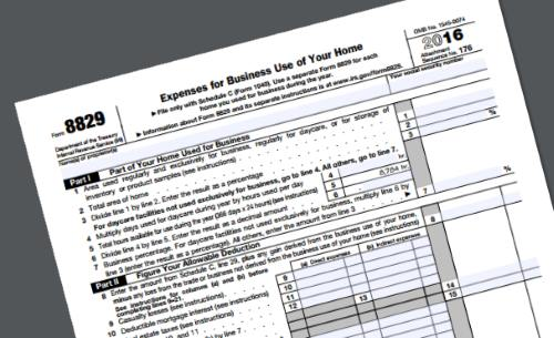 Home Office Deduction tax form