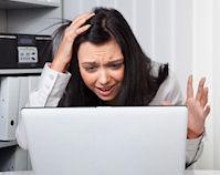 Woman frustrated with email