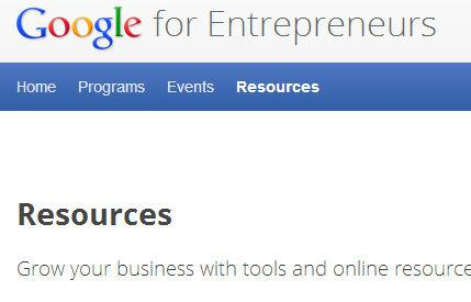 Google for Entrepreneurs screen capture