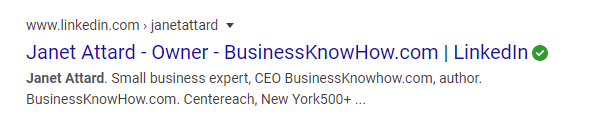 Google Name Search LinkedIn results