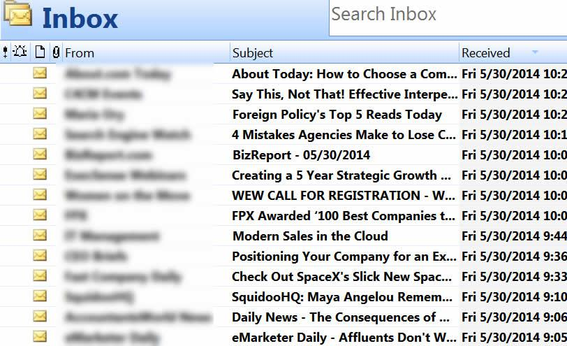 Email Inbox Subject Lines