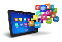 tablet with app cloud