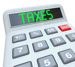 calculator that says taxes